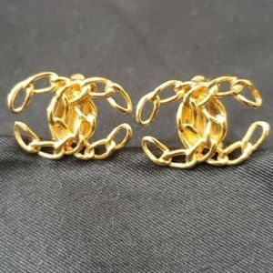 Chanel Vintage Large Chain Earrings